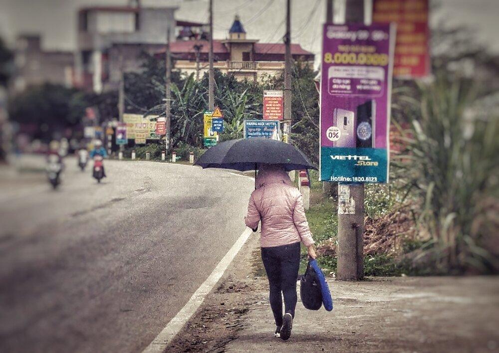 Wietnamska moda zimowa w upalne lato